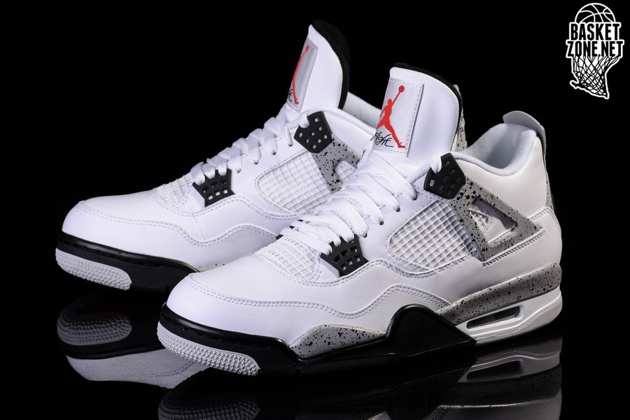Buty Nike Air Jordan 4 IV Retro OG Białe Cement 840606 192