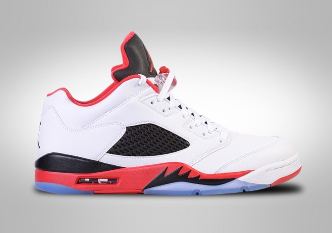 lowest price 9c694 4e865 NIKE AIR JORDAN 5 RETRO LOW FIRE RED