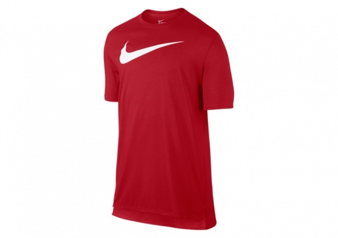 NIKE BACKBOARD DROPTAIL TEE UNIVERSITY RED/WHITE