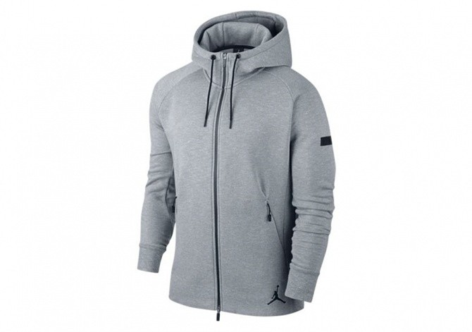 NIKE AIR JORDAN ICON FLEECE HOODY GREY