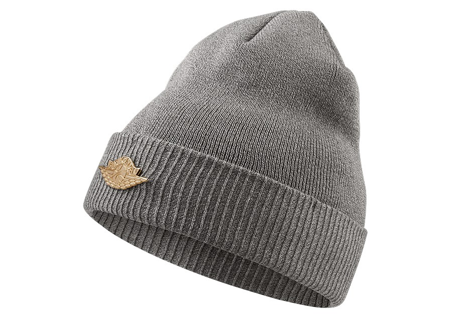 NIKE AIR JORDAN JUMPMAN BEANIE CUFF DARK GREY HEATHER price £27.50 ... 86758dad12a