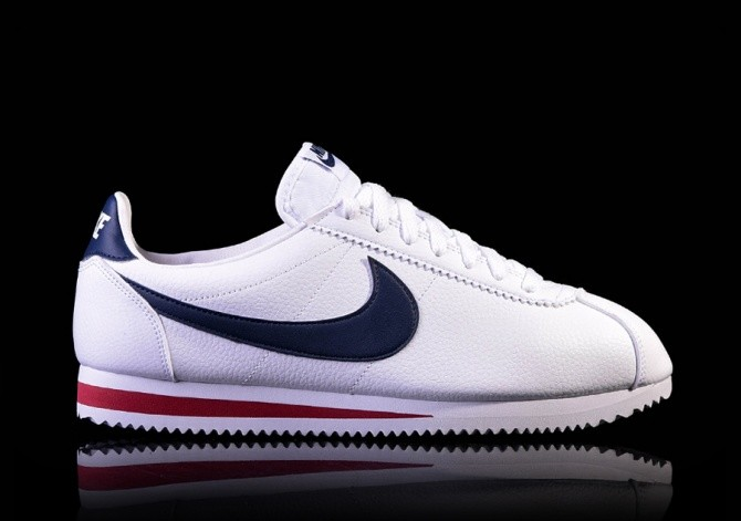 the best attitude 9f188 bb596 NIKE CLASSIC CORTEZ LEATHER WHITE/MIDNIGHT NAVY-GYM RED ...