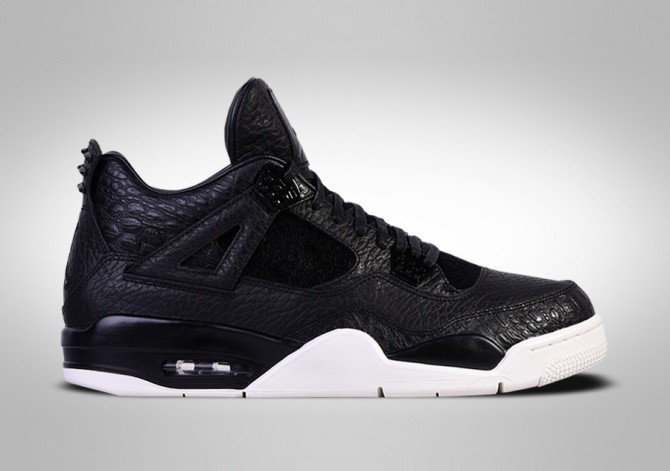outlet store 6cd55 97a1a NIKE AIR JORDAN 4 RETRO PREMIUM BLACK PONY HAIR PINNACLE