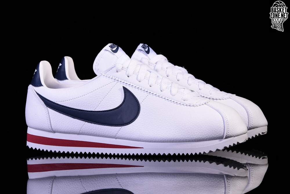 hot sale online 71d91 3a53d ... official nike classic cortez leather white midnight navy gym red 79e6d  15864