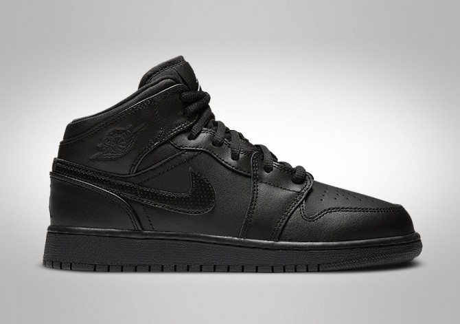 2df99133d34 NIKE AIR JORDAN 1 RETRO MID GS (SMALLER SIZE) BLACK price €72.50 ...