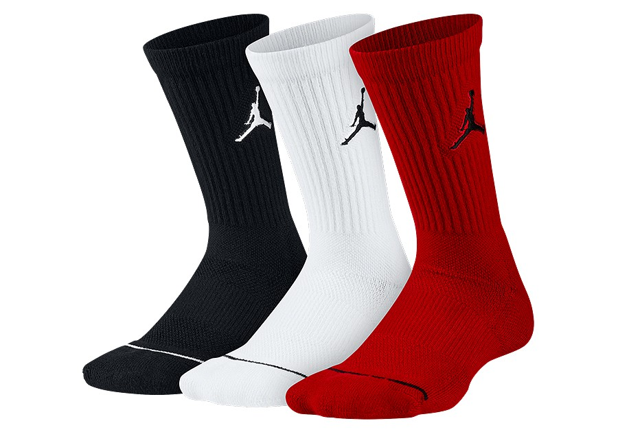 08ab5a3d357f NIKE AIR JORDAN JUMPMAN CREW SOCKS BLACK WHITE GYM RED price €15.00 ...
