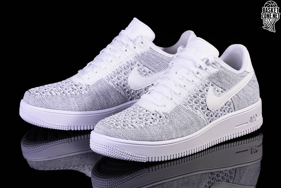 flyknit air force 1 white low
