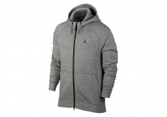 NIKE AIR JORDAN SPORTSWEAR WINGS FLEECE HOODIE DARK GREY HEATHER