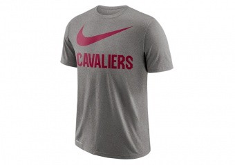 NIKE NBA CLEVELAND CAVALIERS DRY TEE SWOOSH DK GREY HEATHER
