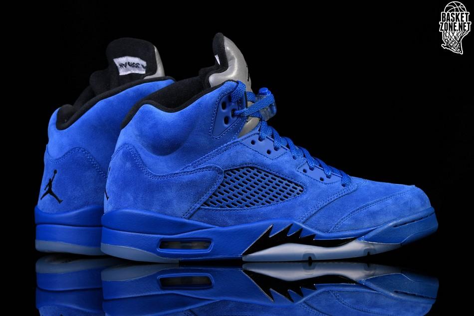 ff50e6659fd NIKE AIR JORDAN 5 RETRO BLUE SUEDE price €187.50 | Basketzone.net