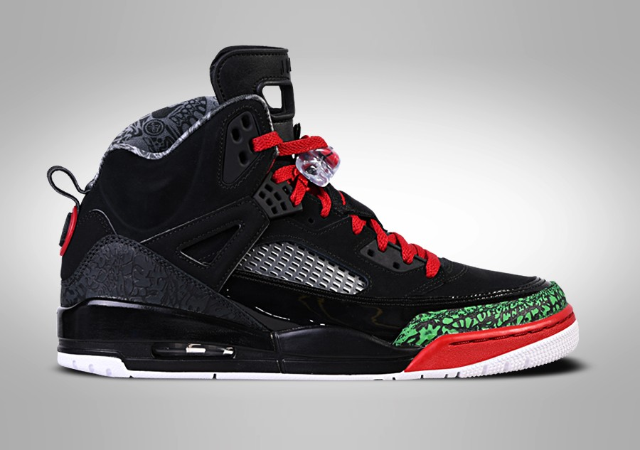 sports shoes 78d7b 713ca NIKE AIR JORDAN SPIZIKE BLACK RED POISON GREEN