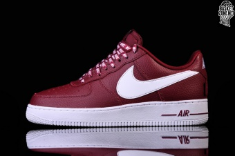 wholesale dealer 93b9d 5c496 NIKE AIR FORCE 1 07 LV8 NBA PACK TEAM RED