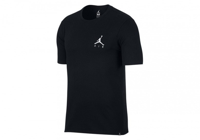 size 40 0bdc0 080fc NIKE AIR JORDAN SPORTSWEAR JUMPMAN AIR EMBROIDERED TEE BLACK