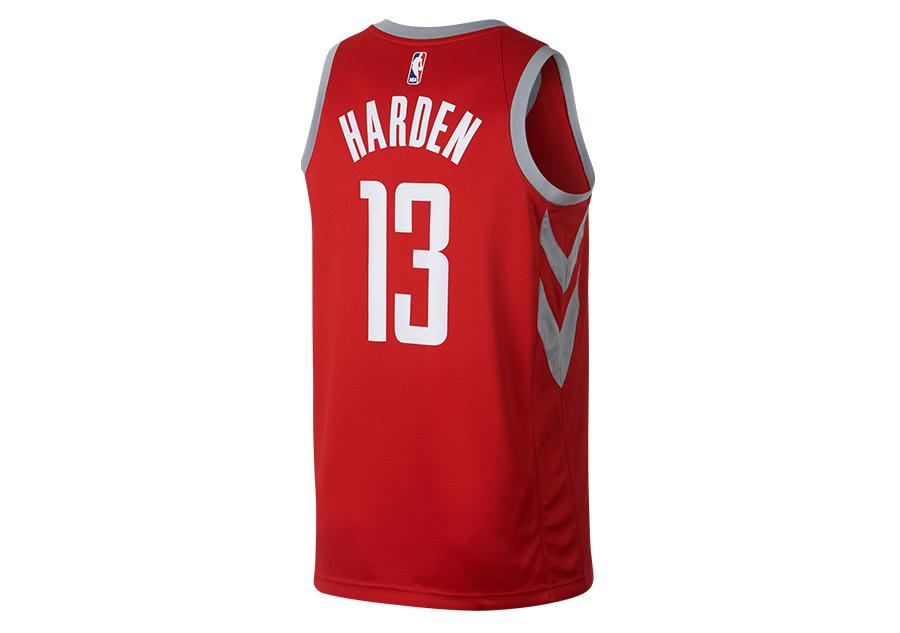 8d2b9db65 NIKE NBA JAMES HARDEN HOUSTON ROCKETS CITY EDITION SWINGMAN JERSEY  UNIVERSITY RED