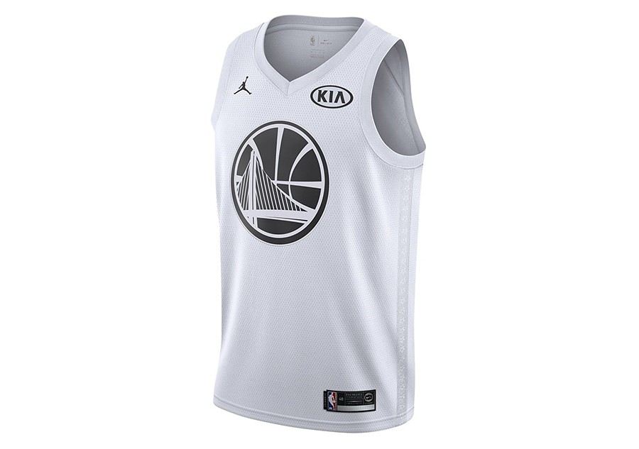 2305f6433dc9 NIKE AIR JORDAN NBA STEPHEN CURRY ALL-STAR 2018 SWINGMAN JERSEY WHITE