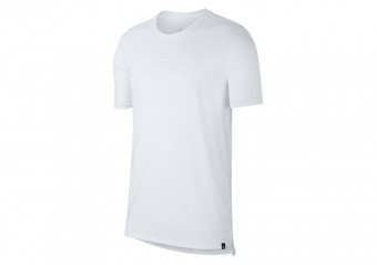 NIKE AIR JORDAN SPORTSWEAR WINGS+ DROP-TAIL TEE WHITE