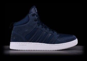 ADIDAS CLOUDFOAM SUPER HOOPS MID NAVY BLUE