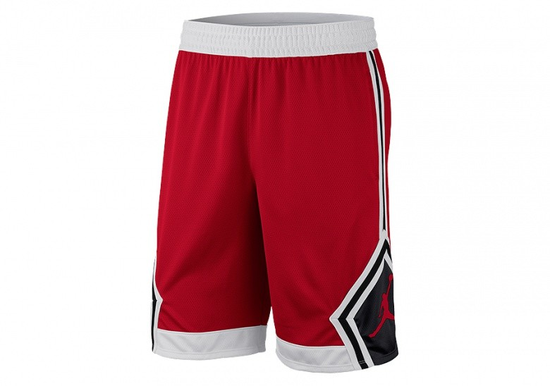 NIKE AIR JORDAN RISE DIAMOND SHORTS GYM RED