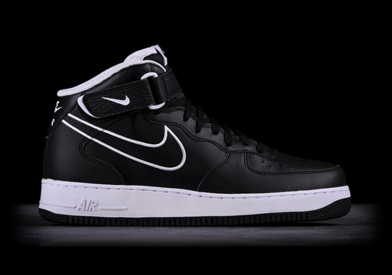 NIKE AIR FORCE 1 MID '07 LTHR BLACK