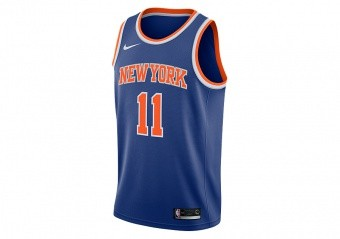 NIKE NBA NEW YORK KNICKS FRANK NTILIKINA SWINGMAN ROAD JERSEY RUSH BLUE