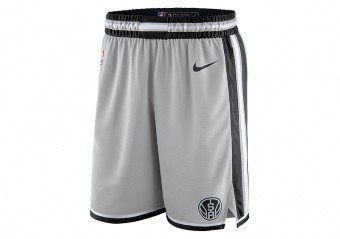 NIKE NBA SAN ANTONIO SPURS SWINGMAN SHORTS SILVER