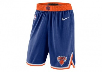 NIKE NBA NEW YORK KNICKS SWINGMAN ROAD SHORTS RUSH BLUE