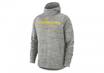 NIKE NBA GOLDEN STATE WARRIORS SPOTLIGHT HOODIE CARBON HEATHER