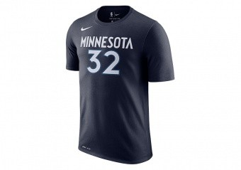 NIKE NBA MINNESOTA TIMBERWOLVES KARL-ANTHONY TOWNS DRY TEE COLLEGE NAVY
