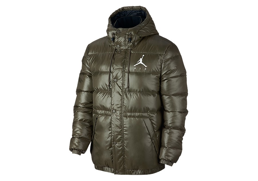 e3a2773f8881 NIKE AIR JORDAN JUMPMAN PUFFER JACKET OLIVE CANVAS price €152.50 ...