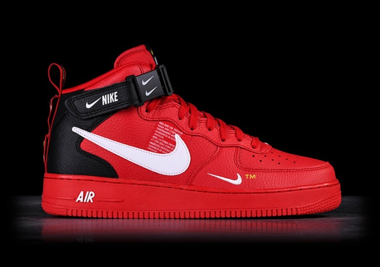 NIKE AIR FORCE 1 MID '07 LV8 UTILITY RED
