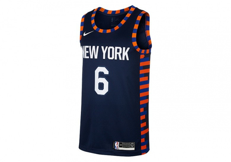 NIKE NBA NEW YORK KNICKS KRISTAPS PORZINGIS SWINGMAN JERSEY COLLEGE NAVY