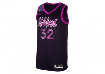 NIKE NBA MINNESOTA TIMBERWOLVES KARL-ANTHONY TOWNS SWINGMAN JERSEY PURPLE DYNASTY