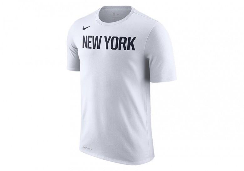 NIKE NBA NEW YORK KNICKS DRY TEE WHITE