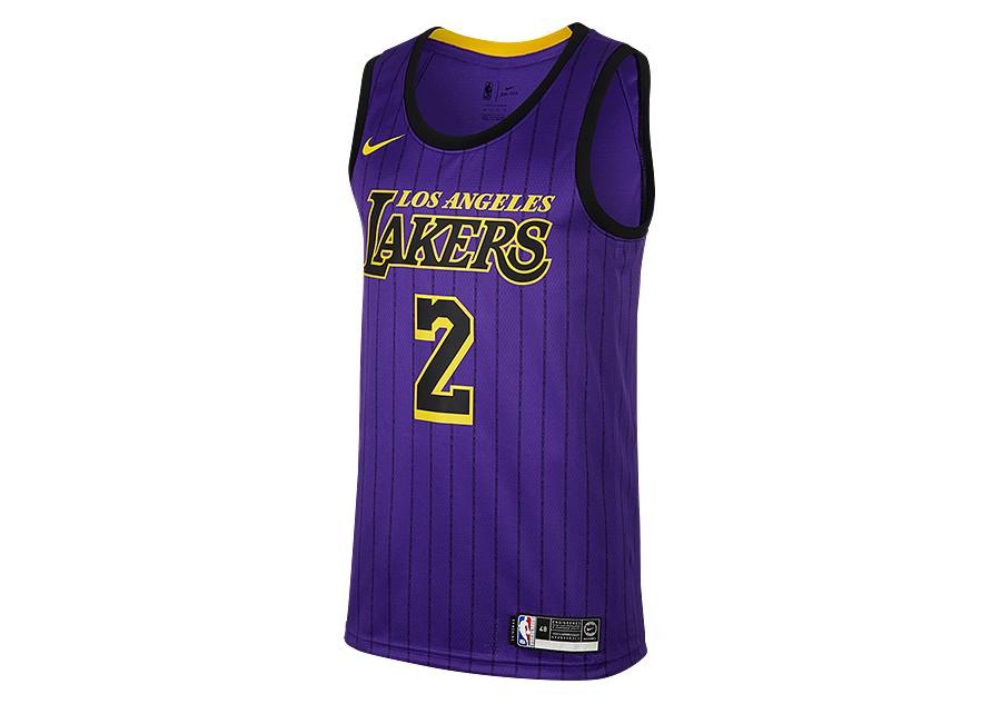 28cd0ee623c47 NIKE NBA LOS ANGELES LAKERS LONZO BALL SWINGMAN JERSEY FIELD PURPLE ...