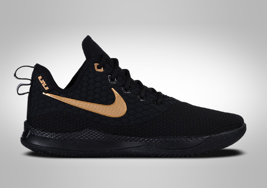 19c8c366e66 NIKE LEBRON WITNESS III BLACK METALLIC GOLD price €97.50 ...