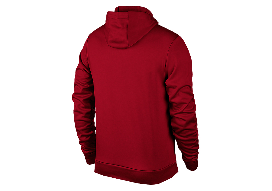 5a698ee42e4 NIKE AIR JORDAN THERMA 23 ALPHA TRAINING PULLOVER HOODIE GYM RED ...