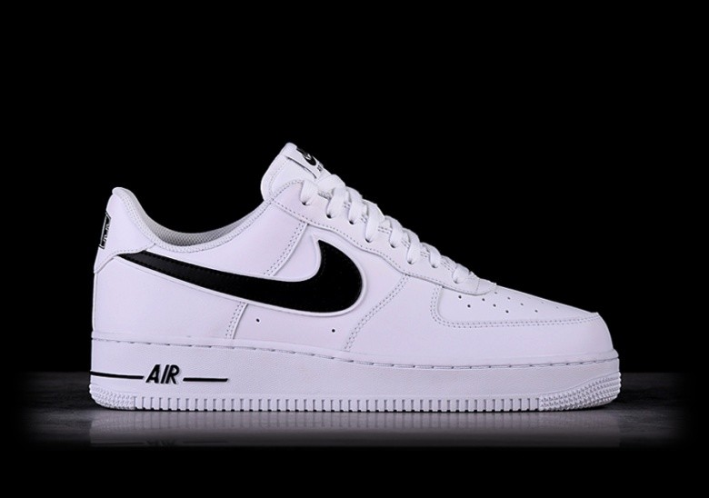 best sneakers bc8ab bf9af NIKE AIR FORCE 1  07 WHITE BLACK SWOOSH