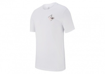 NIKE AIR JORDAN WINGS FLIGHT LOGO TEE WHITE