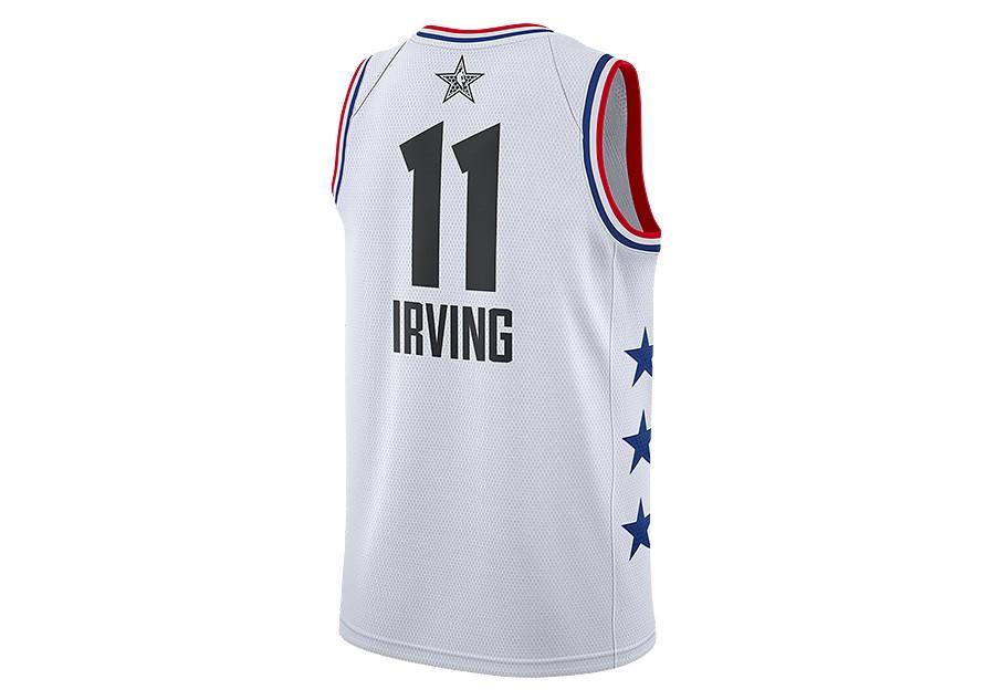 premium selection 2ec0b 2b2e1 NIKE AIR JORDAN NBA ALL STAR WEEKEND 2019 LEBRON KYRIE IRVING JERSEY WHITE  price €87.50   Basketzone.net