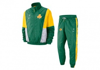 NIKE NBA BOSTON CELTICS COURTSIDE TRACKSUIT CLOVER