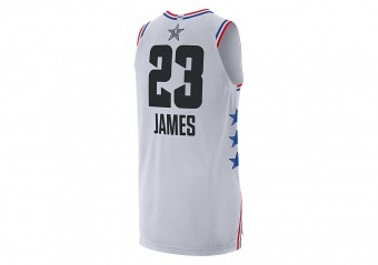 NIKE AIR JORDAN NBA ALL STAR WEEKEND 2019 LEBRON JAMES AUTHENTIC JERSEY WHITE