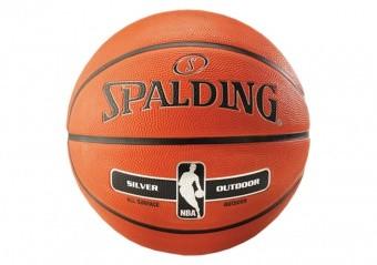 SPALDING NBA SILVER OUTDOOR (SIZE 5) ORANGE