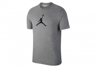 NIKE AIR JORDAN ICONIC 23/7 TEE CARBON HEATHER