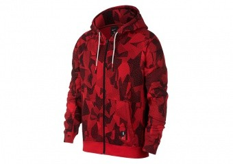 NIKE KYRIE FULL-ZIP HOODIE UNIVERSITY RED