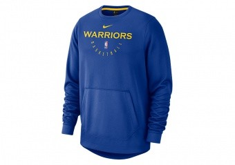 NIKE NBA GOLDEN STATE WARRIORS SPOTLIGHT CREW HOODIE RUSH BLUE