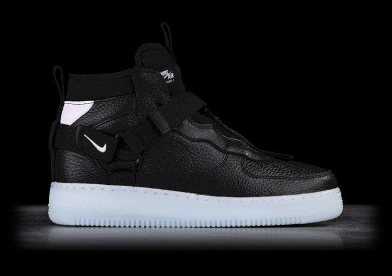 low priced 98cbd ffacd NIKE AIR FORCE 1 UTILITY MID BLACK