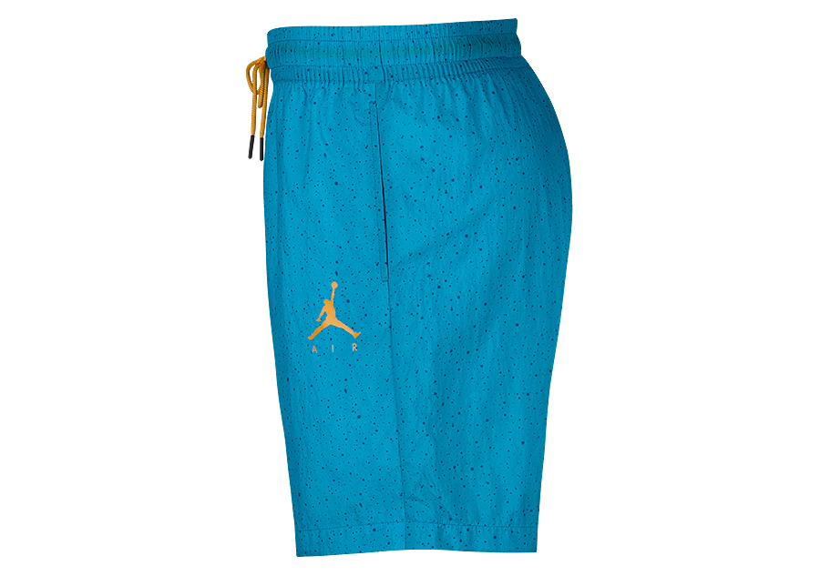 timeless design 7bcf3 c41e6 NIKE AIR JORDAN JUMPMAN CEMENT POOLSIDE SHORTS LIGHT BLUE FURY