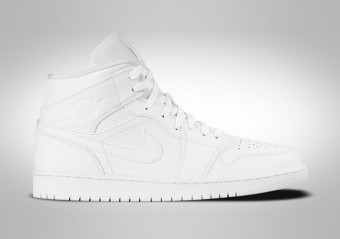 NIKE AIR JORDAN 1 RETRO MID TRIPLE WHITE
