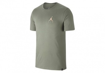 NIKE AIR JORDAN SPORTSWEAR JUMPMAN AIR EMBROIDERED TEE SPRUCE FOG