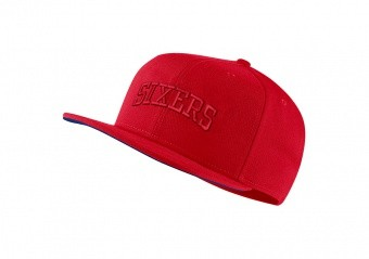 NIKE NBA PHILADELPHIA 76ERS AEROBILL PRO CAP UNIVERSITY RED